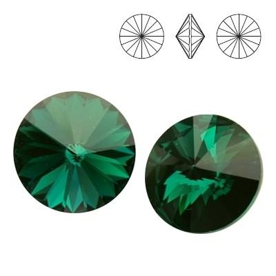 1122 Rivoli 12mm Emerald F