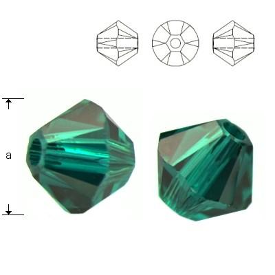 5328 Bicone 4mm Emerald 10pcs