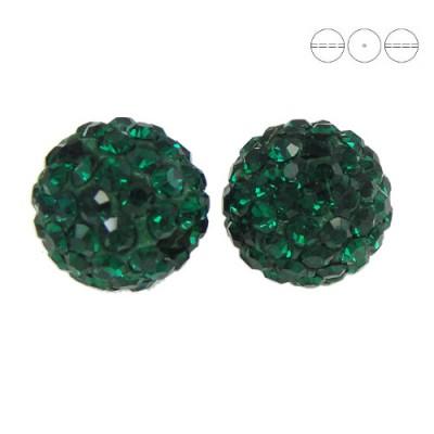 Discoball Bead 8mm Emerald