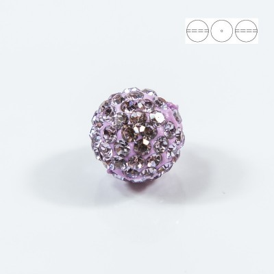 Discoball Bead 8mm Violet