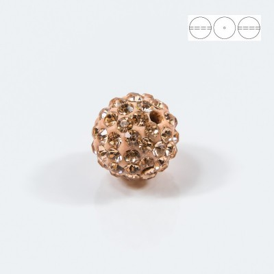 Discoball Bead 10mm Peach