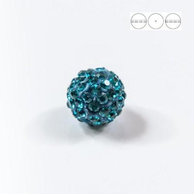 Discoball Bead 12mm Blue Zircon