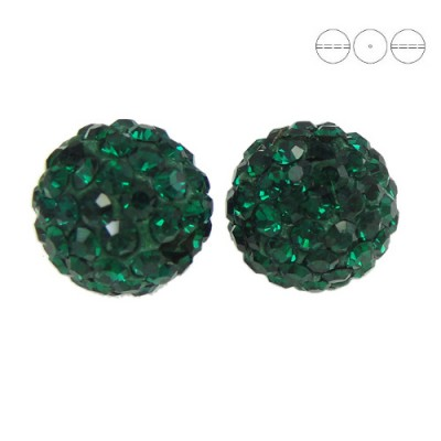 Discoball Bead 12mm Emerald