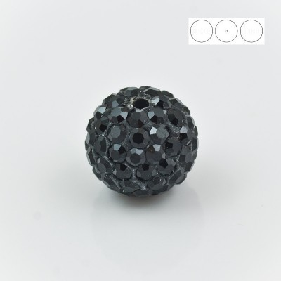 Discoball Bead 12mm Jet