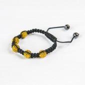 Shamballa Bracelet 5x 10mm Light Sapphire