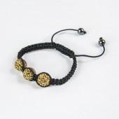 Shamballa Bracelet 3x 12mm Crystal