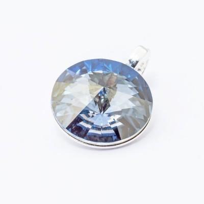 Wisiorek posrebrzany Swarovski Rivoli 12mm Blue Shade