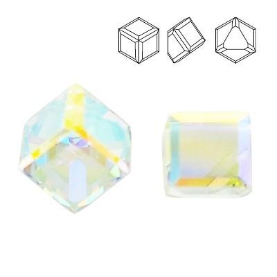 Swarovski 4841 Cube Kostka 4mm Crystal AB