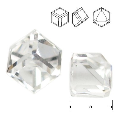 4841 Cube 4mm Crystal CAVZ
