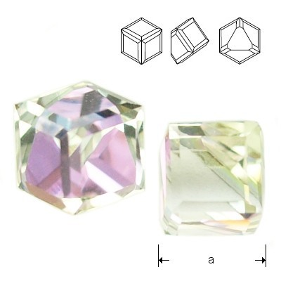 Swarovski 4841 Cube Kostka 4mm Vitrail Light Z