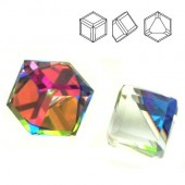 Swarovski 4841 Cube Kostka 4mm Vitrail Medium Z