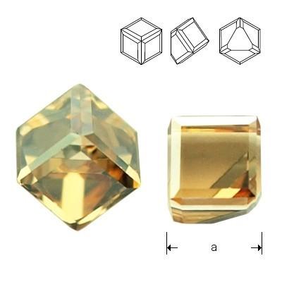 Swarovski 4841 Cube Kostka 4mm Crystal GSHA CALVZ