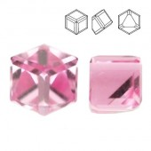 Swarovski 4841 Cube Kostka 6mm Light Rose CALZ