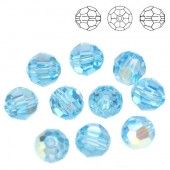Swarovski 5000 Beads Round 10mm Aquamarine AB