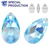 6106 Pear-shaped 22mm Aquamarine AB