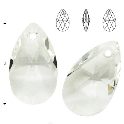 6106 Pear-shaped 28mm Crystal