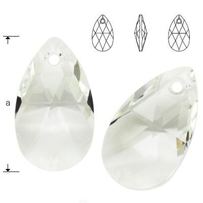 Swarovski 6106 Migdał 28mm Crystal