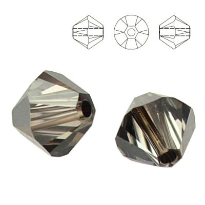 5328 Bicone 4mm Silver Night 10pcs