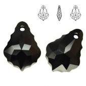 Swarovski 6090 Baroque 16mm Black Diamond