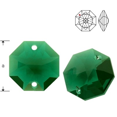 Swarovski Strass 8116 Octagon 14mm Emerald