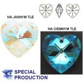 Swarovski 6228 Serce Heart 10mm Crystal AB
