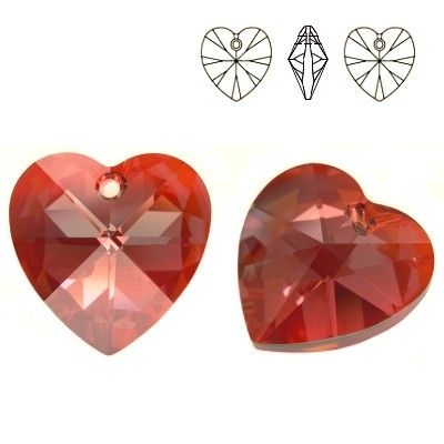 6228 Xilion Heart 18mm Red Magma