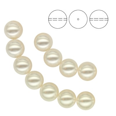 5810 Round Pearl 8mm White Pearl - 10pcs