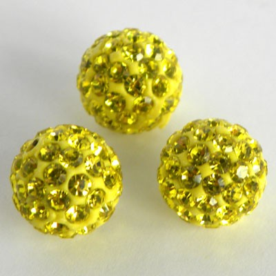 Discoball Bead 10mm Jonquil