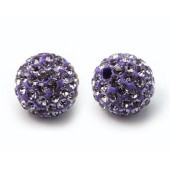 Discoball Bead 12mm Light Amethyst