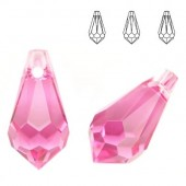 Swarovski 6000 Drop 13x6,5mm Rose