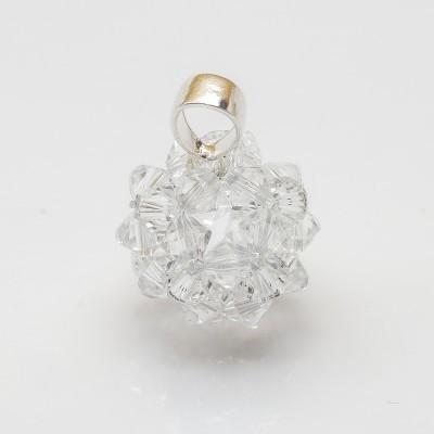 Wisiorek srebro 925 Swarovski Kule Bicone 16mm Crystal