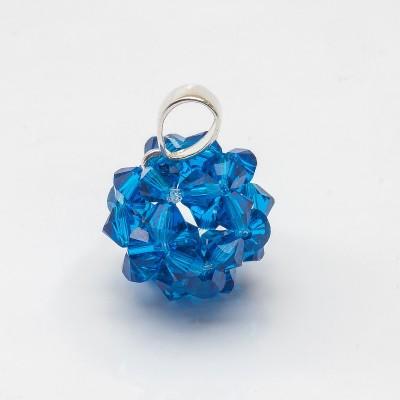 Swarovski Bicone Ball Pendant 16mm Capri Blue