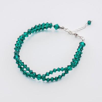 Bicone bracelet  Swarovski Emerald - BR5328 EME