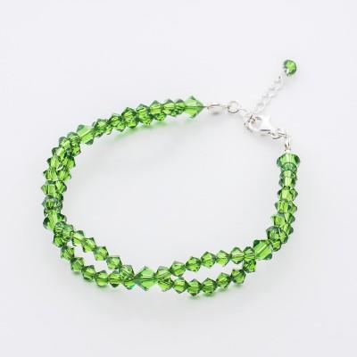 Bicone bracelet  Swarovski Fern Green - BR5328 FG
