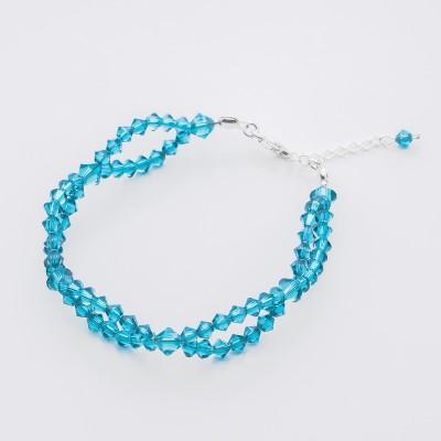 Bicone bracelet  Swarovski Blue Zircon - BR5328 BZ