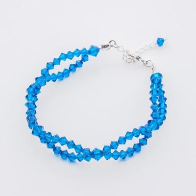 Bicone bracelet  Swarovski Capri Blue - BR5328 CB