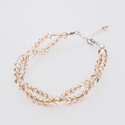 Bicone bracelet  Swarovski Golden Shadow - BR5328 GSHA