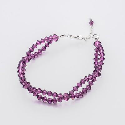 Bicone bracelet  Swarovski Amethyst - BR5328 AMETH