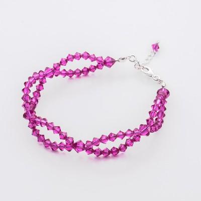 Bicone bracelet  Swarovski Fuchsia - BR5328 FUCH