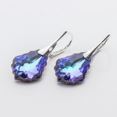 Swarovski Baroque Earrings 22mm Violet