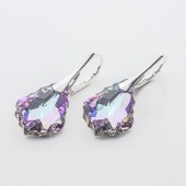 Swarovski Baroque Earrings 22mm Vitrail Light