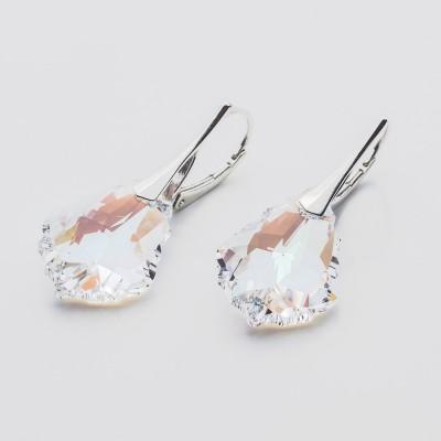 Swarovski Baroque Earrings 22mm Crystal Blue AB