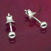 Sterling Silver 3mm Ball Earrings