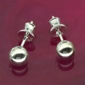 Kolczyki srebrne kulki 925 4mm