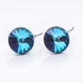 Swarovski Rivoli Earrings 12mm Black Diamond