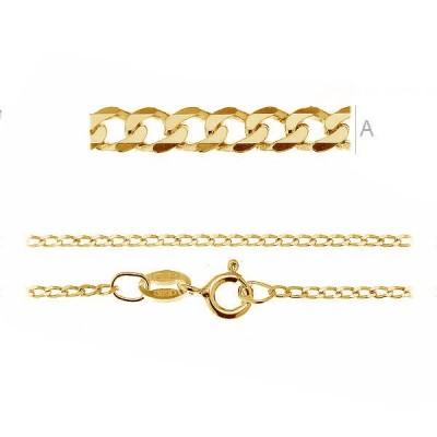 Gold Curb chain PD 40Z 45cm