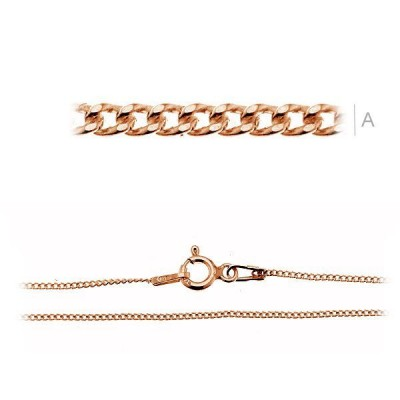 Rose Gold Curb chain bracelet PDS35 ZR 18cm