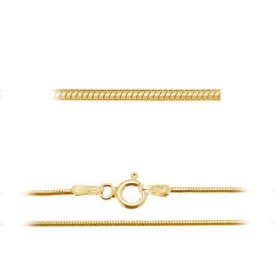 Gold Snake chain 020 42cm