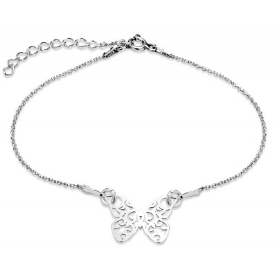 Sterling Silver Braclet Celebrities Butterfly