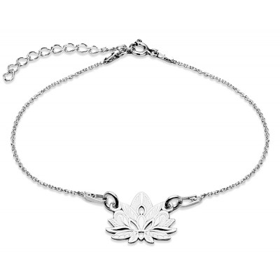 Sterling Silver Braclet Celebrities Lotus Flower